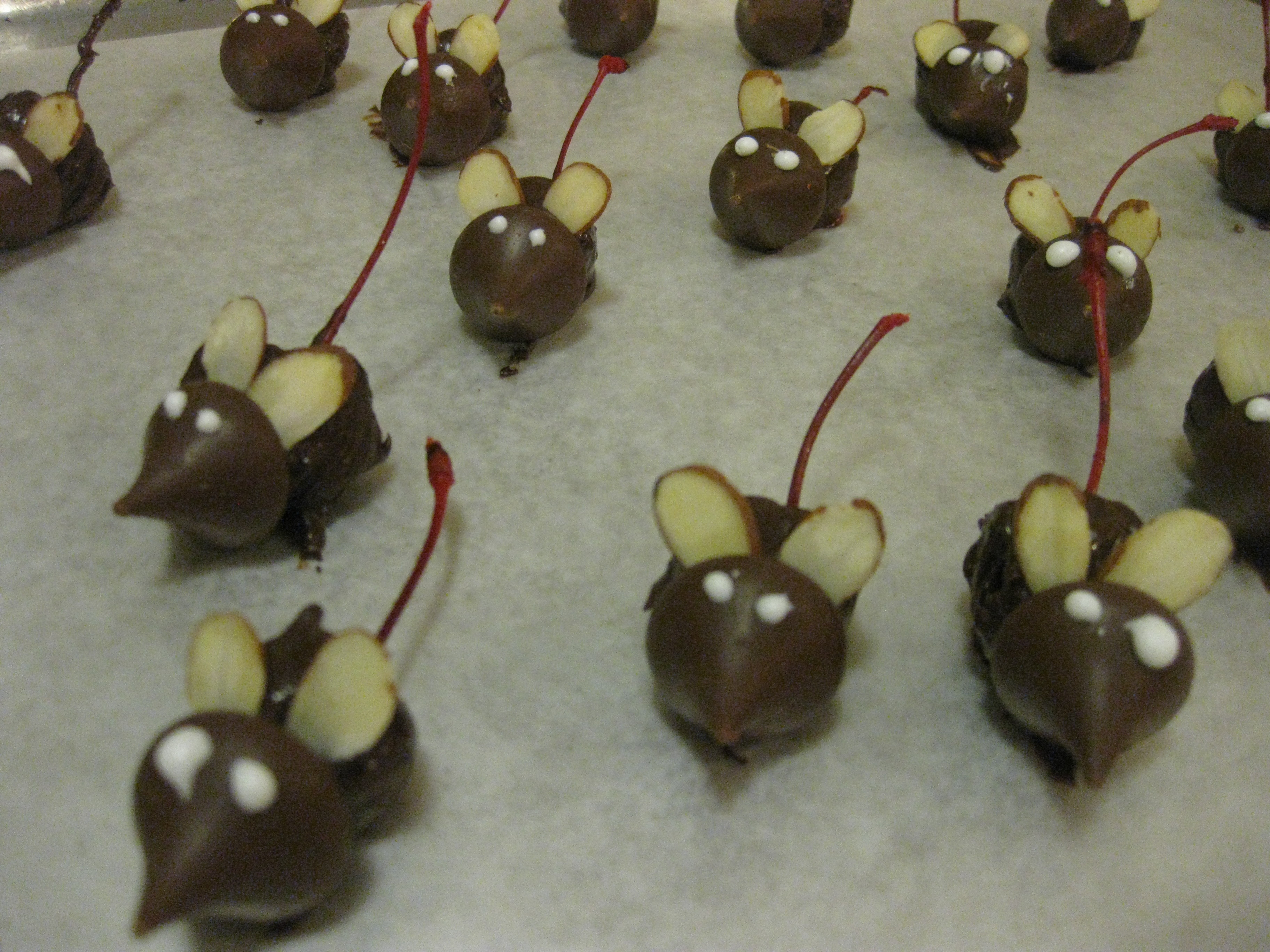 Chocolate Covered Christmas Mice! | Cooking Up Good Speech....