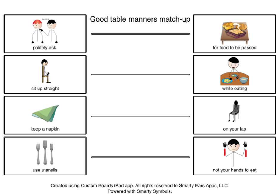 picture about Table Manners for Kids Printable named Training Constructive Desk Manners for Superior Social Abilities all through