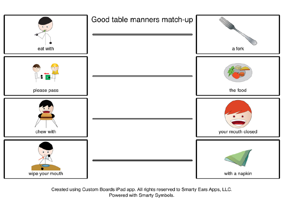 table manners worksheet for kids image search results