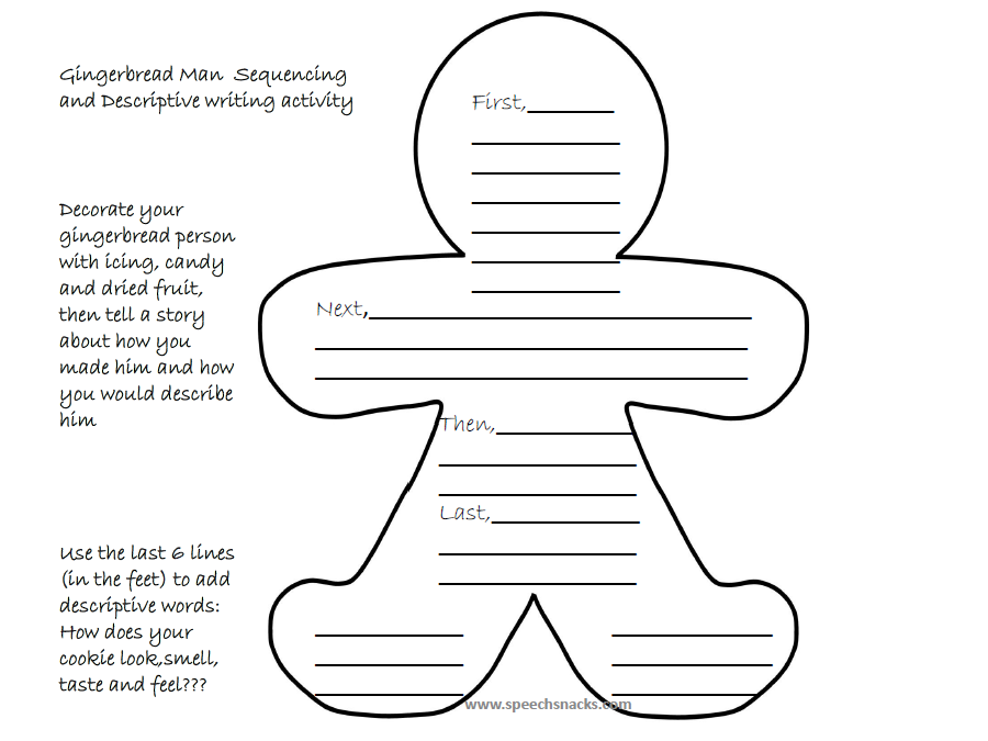 Using Gingerbread Man Cookies to Teach Language Skills | Cooking Up ...